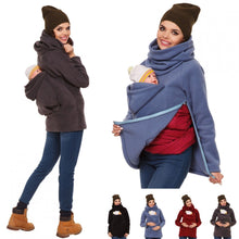 Load image into Gallery viewer, Three in one multifunctional autumn/winter women's kangaroo sweater