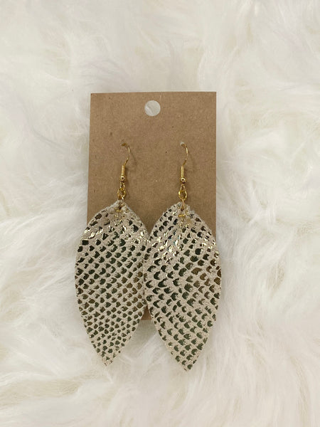 Pinched Gold Fleck Earrings