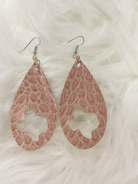 Rose Gold Cut-out Texas Earrings
