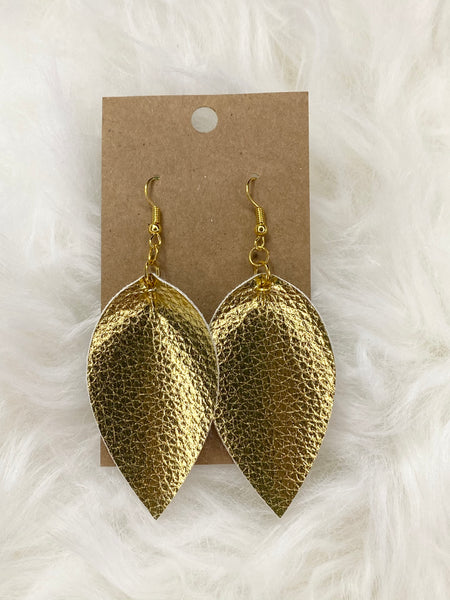 Pinched Gold Earrings