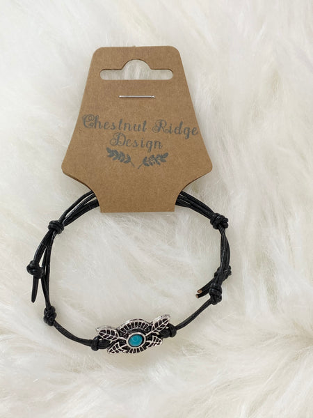 Teal Arrow Charm Bracelet