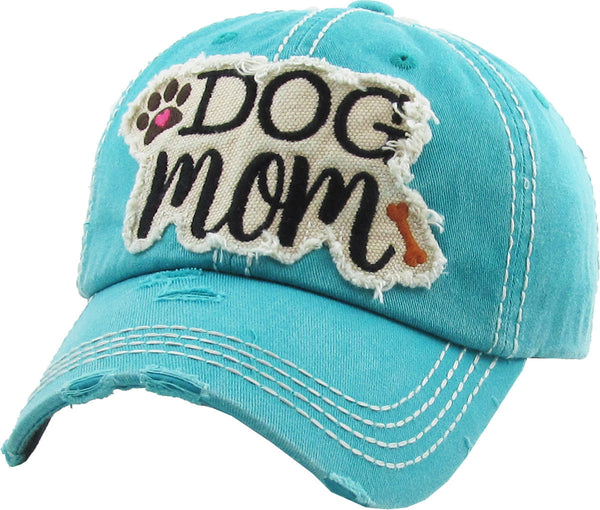 Dog Mom Washed Vintage Ballcap
