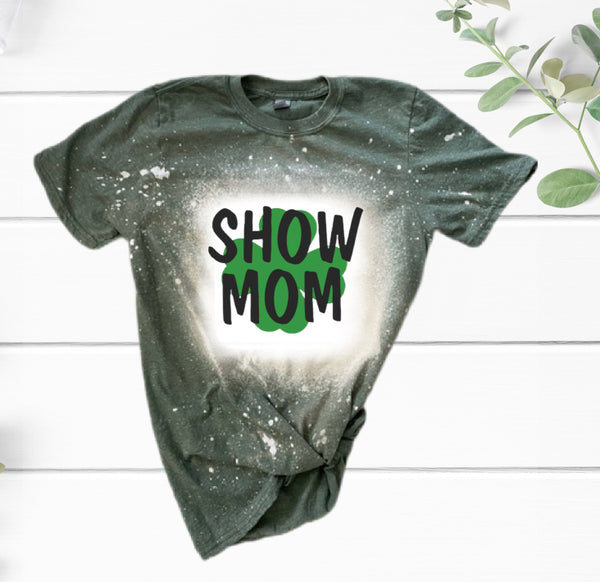 4H Show Mom Distressed T-Shirt