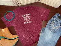 """Loretta"" Distressed T-shirt"
