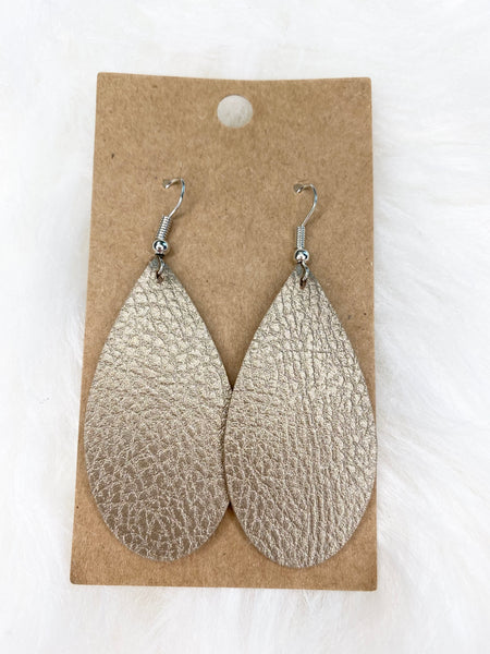 Tan Teardrop Earrings