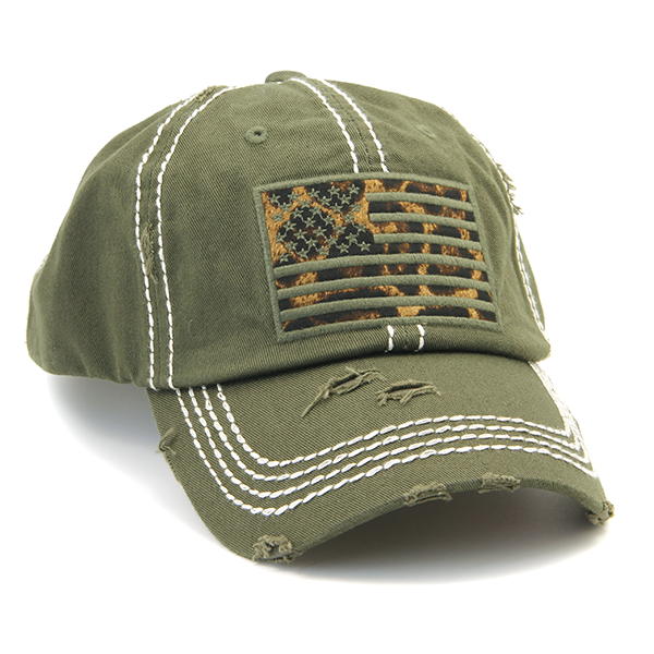 USA American Flag Leopard Hat