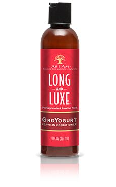 As I Am Long & Luxe GroYogurt Leave-in Conditioner 8oz Leave-in Conditioners As I Am