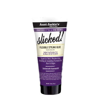 Aunt Jackie's Grapeseed Collection SLICKED! Flexible Styling Glue Styling & Holding Gels Aunt Jackie's