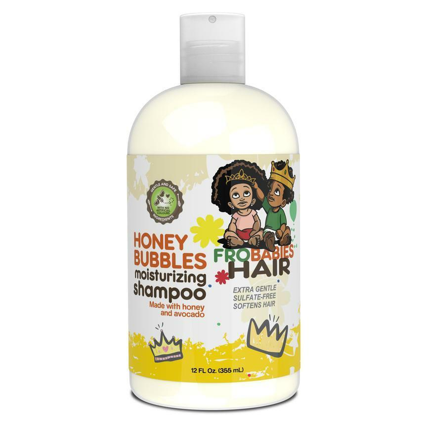 Fro Babies Honey Bubbles Moisturizing Shampoo 12 oz Children's Products Fro Babies