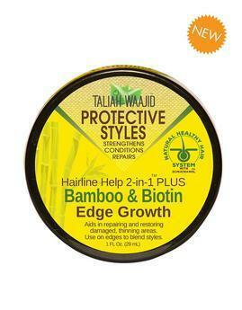 Taliah Waajid Hairline Help 2-In-1 Plus Bamboo And Biotin Edge Grow 1oz Edge Control Taliah Waajiid