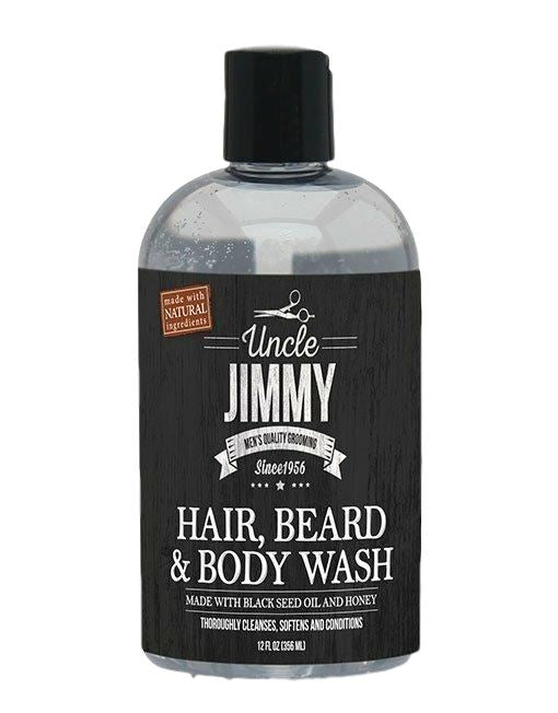Uncle Jimmy Hair, Beard & Body Wash 12oz Men's Products Uncle Jimmy