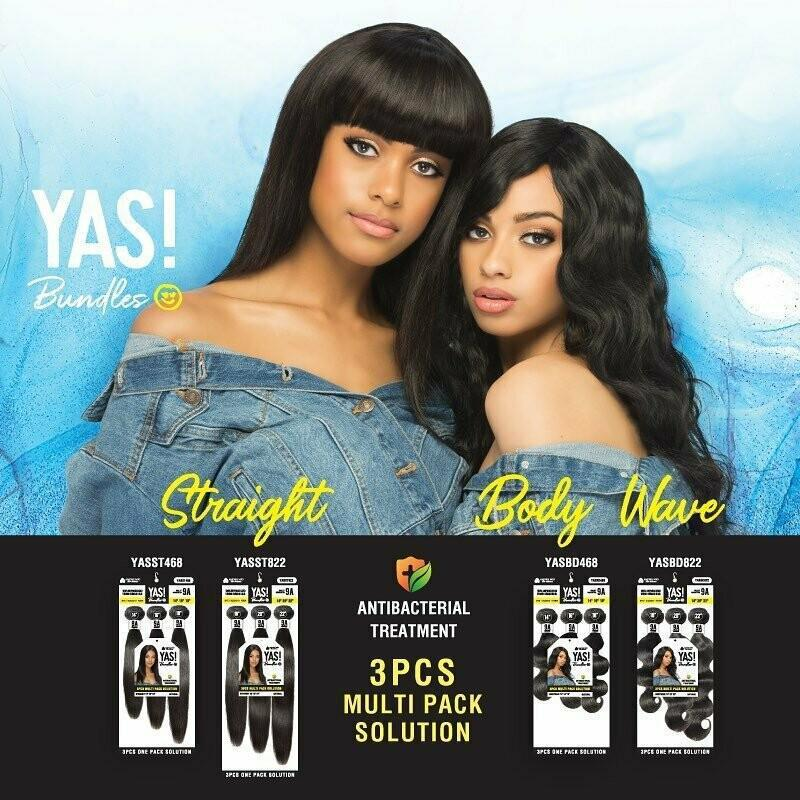 "YAS! 100% Remi Human Hair Bundles 3-Pack Body Wave - 18"" 20"" 22"" Beauty Club Outlet 18"" 20"" 22"""