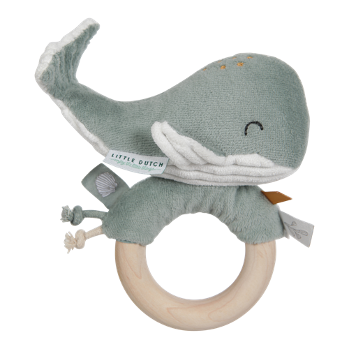 Ring rattle Whale Ocean Mint - Wild Atlantic Living