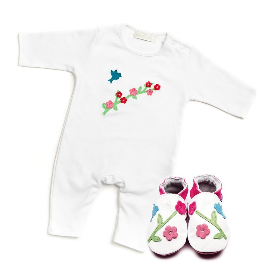 Oriental Bird Babygrow & Shoes Gift Set - Wild Atlantic Living