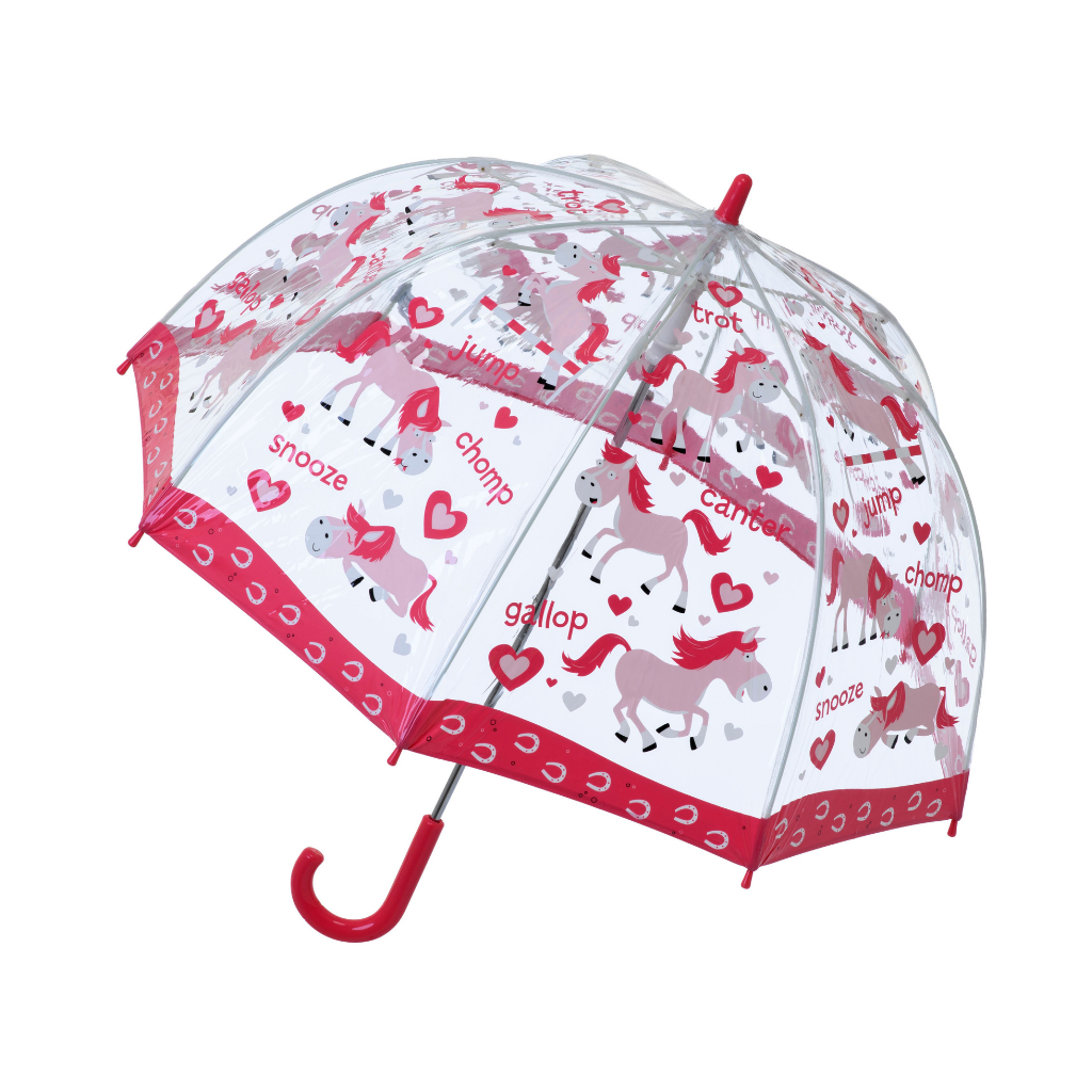 Clear Pony Kids Umbrella