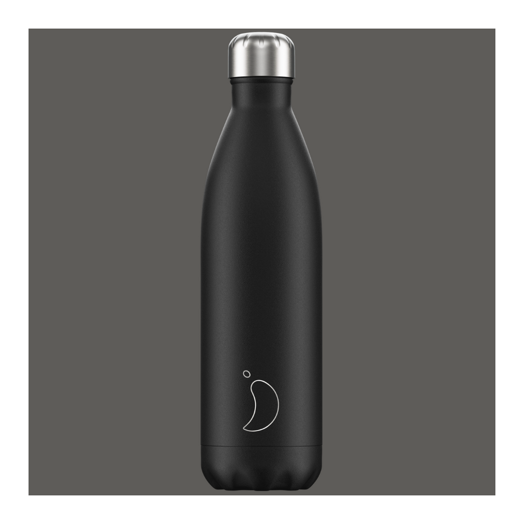 Chilly's 750ml Bottle - Matte Black - Wild Atlantic Living