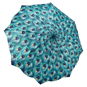 Peacock Themed Folding Umbrella