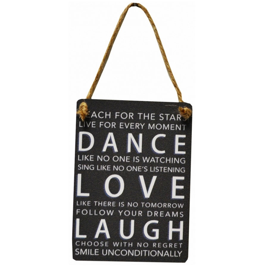 Mini Metal Sign - Dance Love Laugh - Wild Atlantic Living