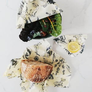 Beeswax Food Wraps Variety 3 Pack