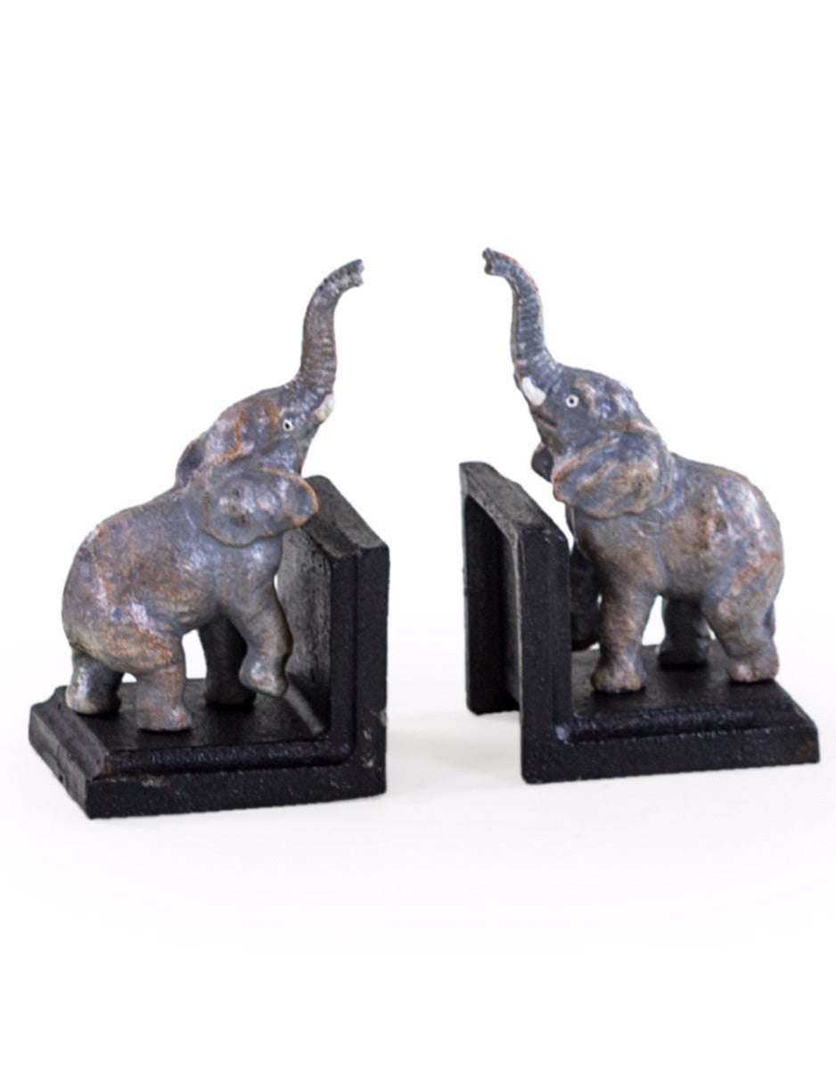 Set of Elephant Cast Iron Bookends - Wild Atlantic Living