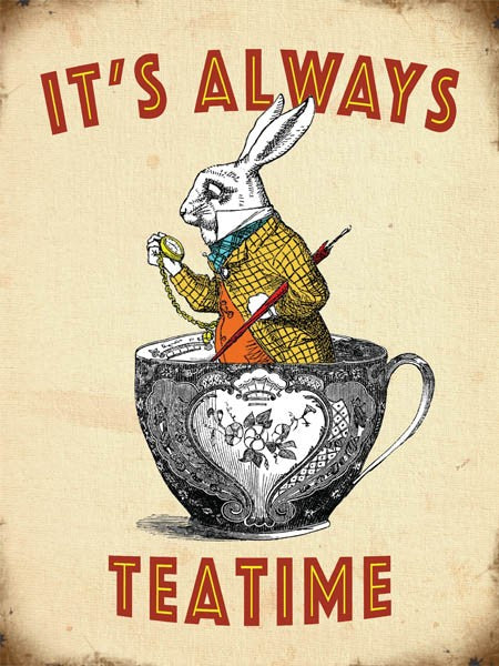 Always Tea Time Mini Metal Sign - Wild Atlantic Living
