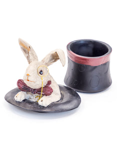 Rabbit Top Hat Storage Box - Wild Atlantic Living