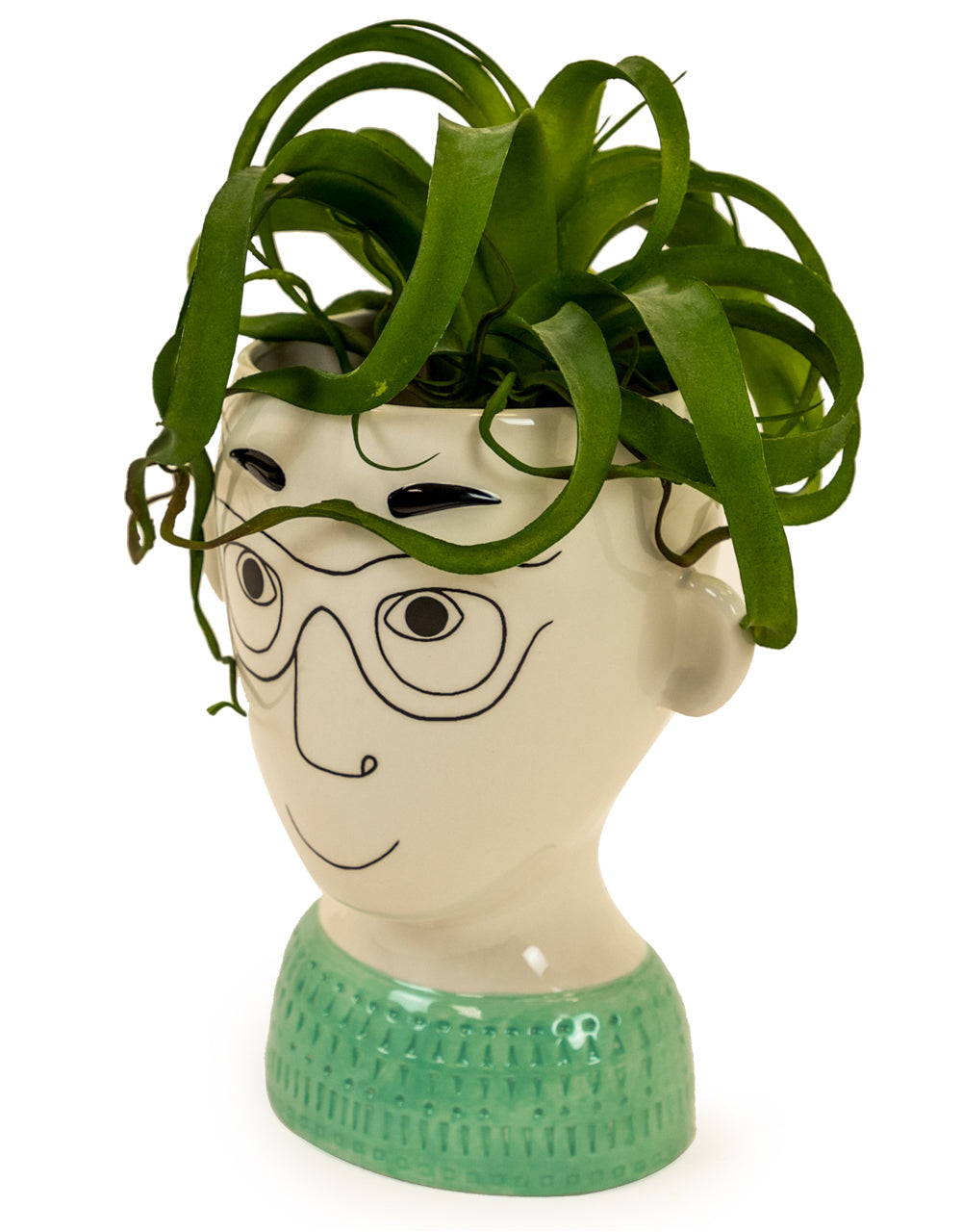 Ceramic Doodle Man's Face Vase - Wild Atlantic Living
