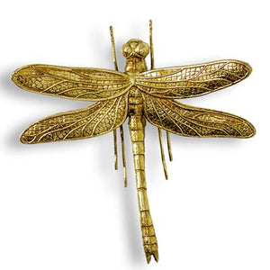Medium Gold Dragonfly Wall Figure - Wild Atlantic Living