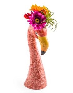 Large Ceramic Pink Flamingo Head Vase - Wild Atlantic Living