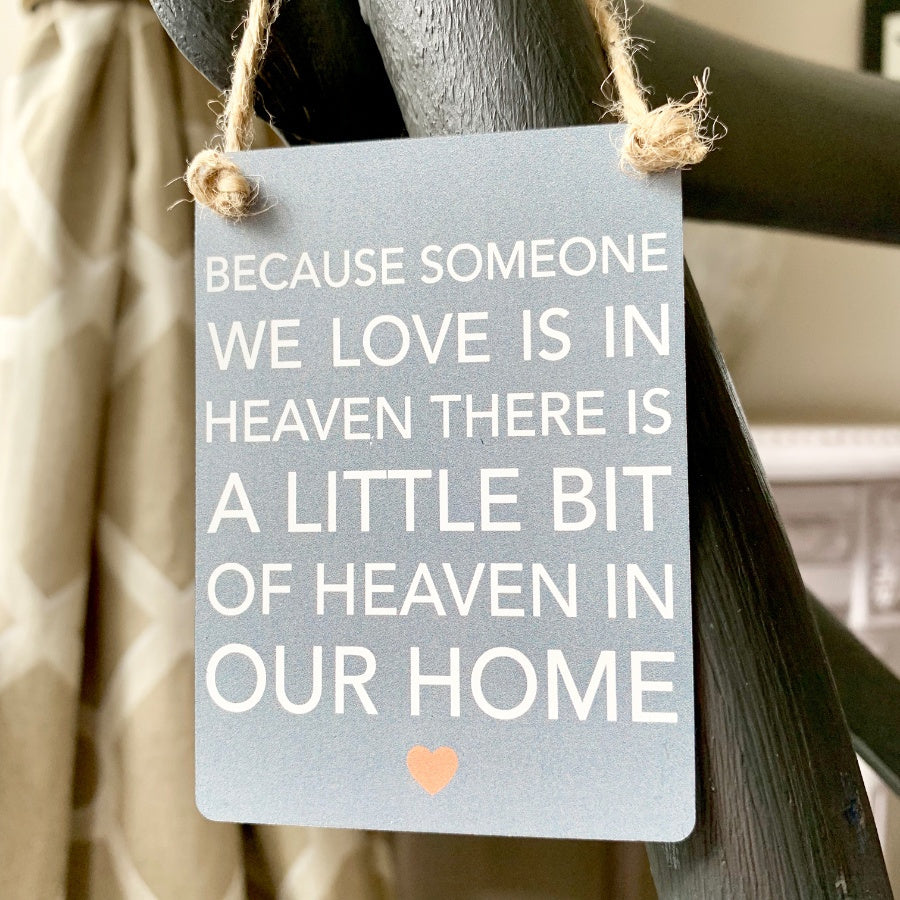 Someone We Love In Heaven Mini Metal Sign - Wild Atlantic Living