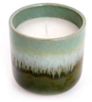 9.5 cm Porcelain Candle Pot Eucalyptus - Wild Atlantic Living