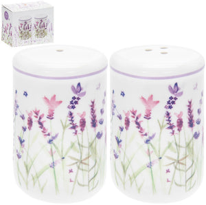 Ceramic Lavender Garden Salt & Pepper - Wild Atlantic Living