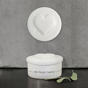 Porcelain First Tooth Box Heart - Wild Atlantic Living