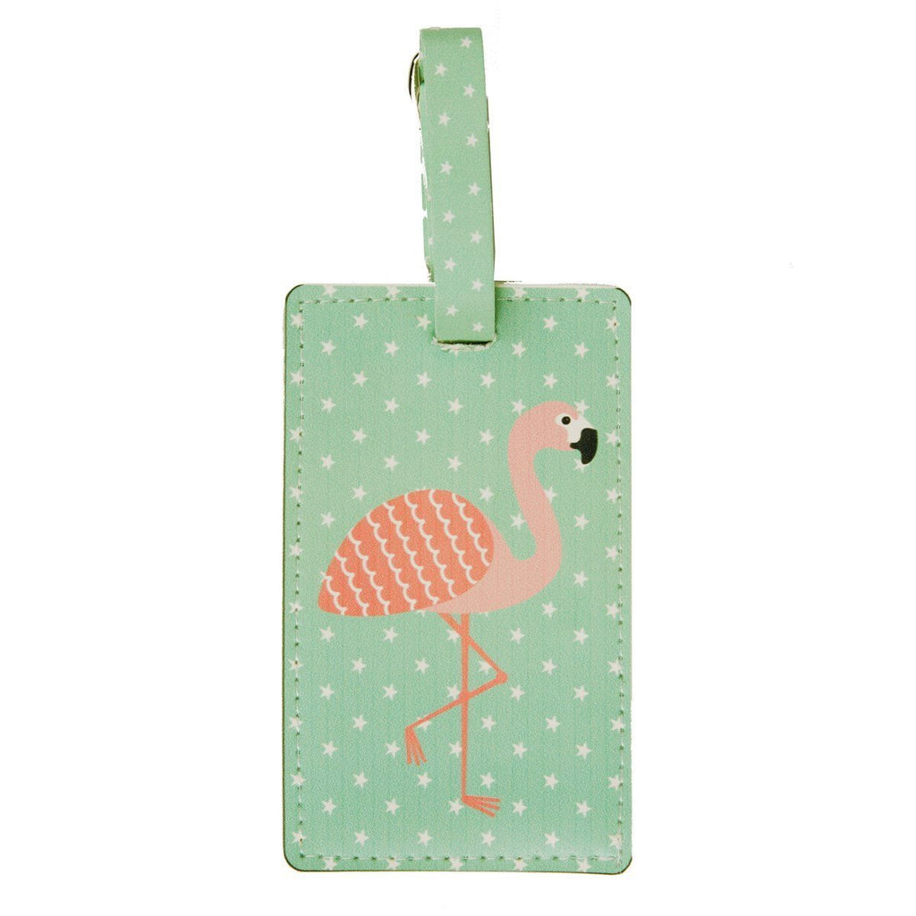 Tropical Flamingo Luggage Tag - Wild Atlantic Living