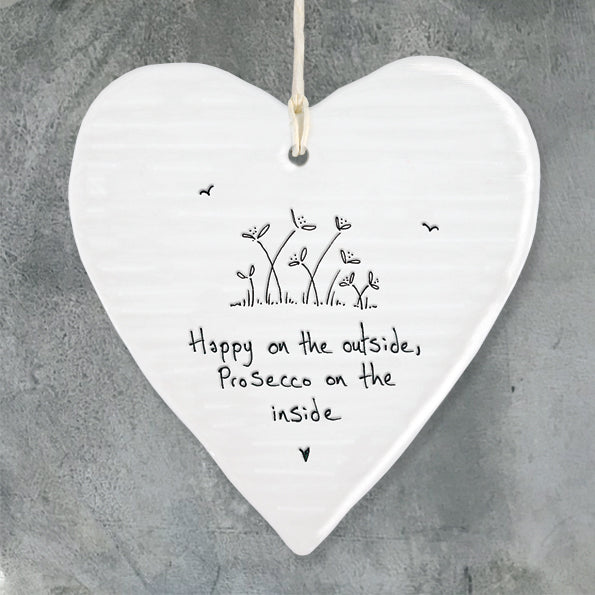 Happy on the outside  ...   Porcelain Round Heart 6206 - Wild Atlantic Living