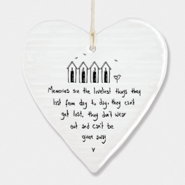 Memories are the loveliest...  Porcelain Round Heart 6215 - Wild Atlantic Living