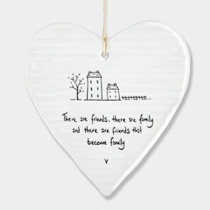 Friends become family...  Porcelain Round Heart 6216 - Wild Atlantic Living
