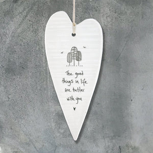 The good things in life - Porcelain Long Heart - Wild Atlantic Living