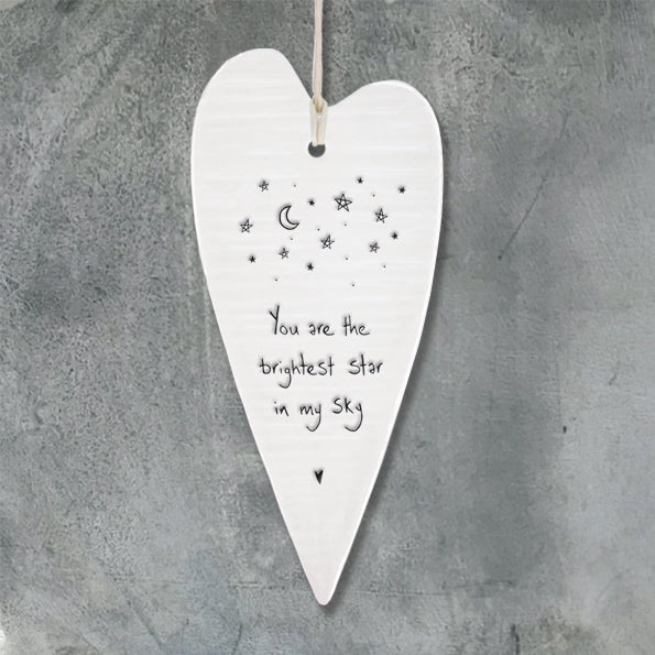 Brightest star - Porcelain Long Heart - Wild Atlantic Living