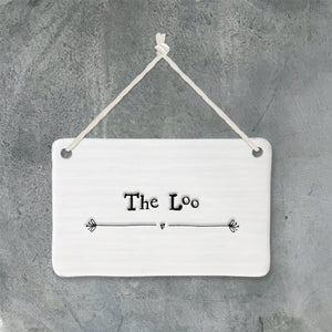 Porcelain Sign - Loo - Wild Atlantic Living
