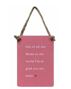 All The Mums In The World - Mini Metal Sign - Wild Atlantic Living