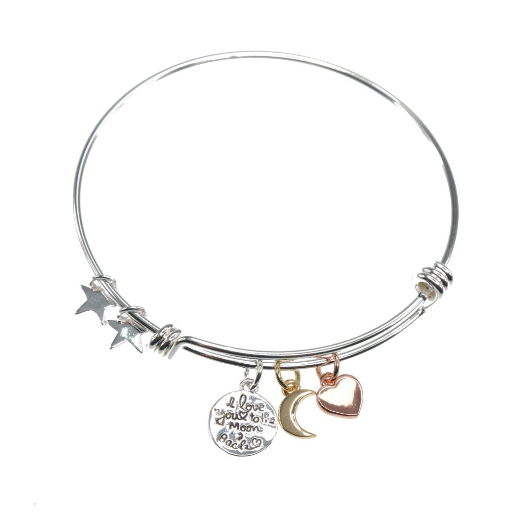 Silve Bracelet ''I love you to the moon & back'' - Wild Atlantic Living
