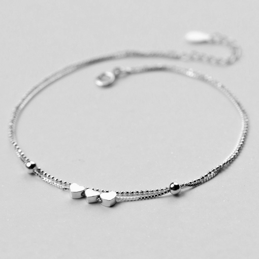 3 Tiny Hearts Twin Bracelet