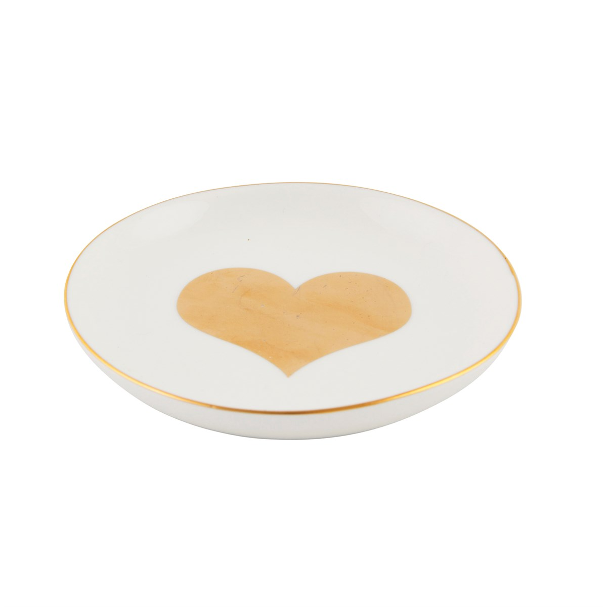 Gold Heart Trinket Dish - Wild Atlantic Living