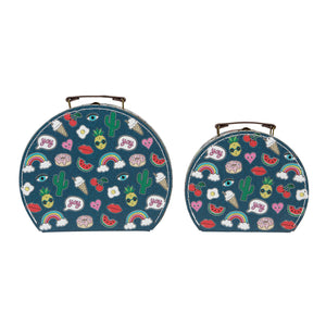 Patches & Pins Suitcases - Set of 2 - Wild Atlantic Living