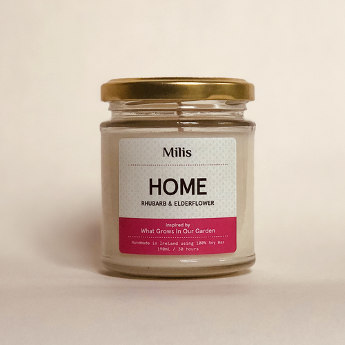 Rhubarb & Elderflower Candle - Wild Atlantic Living