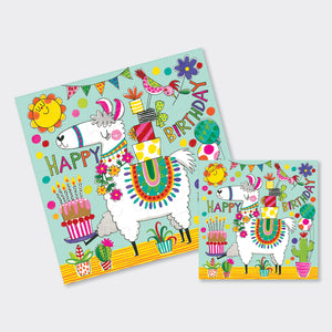 Birthday Llama Jigsaw Card - Wild Atlantic Living