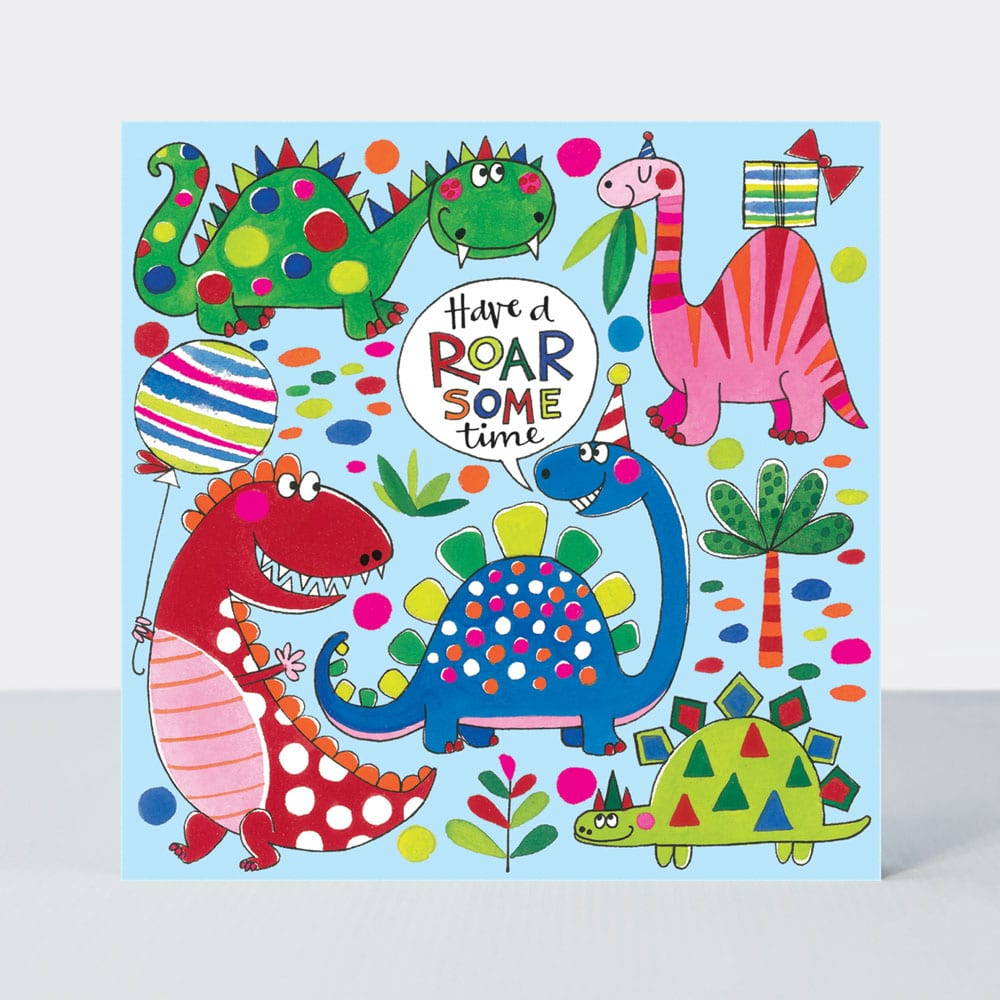 Roarsome Time Dinosaur Jigsaw Card - Wild Atlantic Living