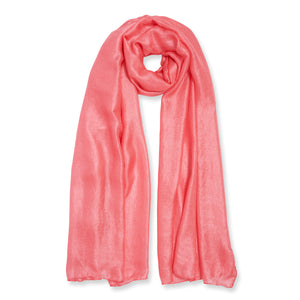 Gift Boxed Scarf - Coral - Wild Atlantic Living