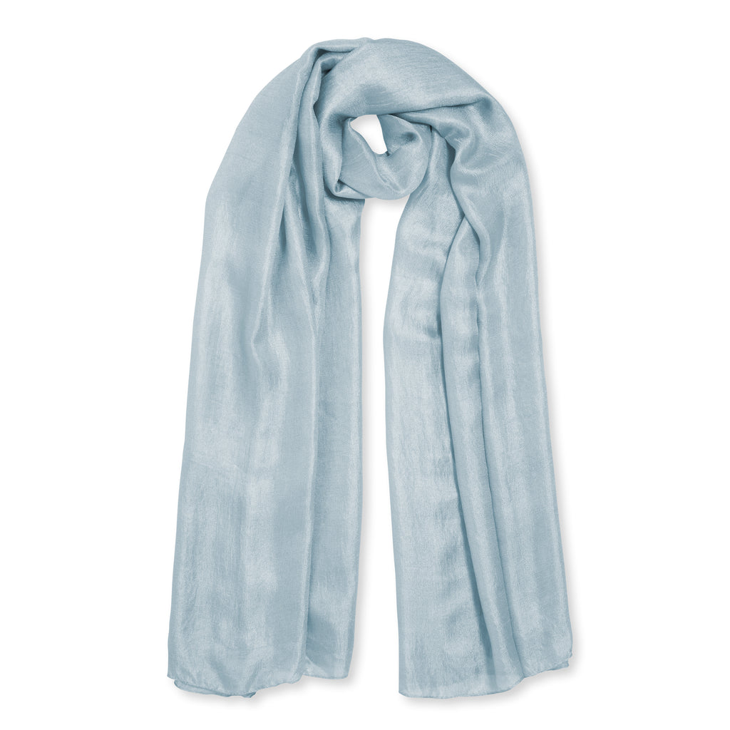 Gift Boxed Scarf - Pale Blue - Wild Atlantic Living